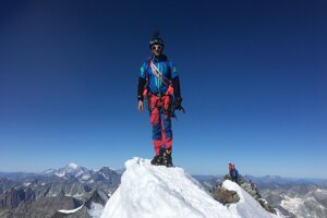 Marcel Baláž na vrchole Matterhornu.
