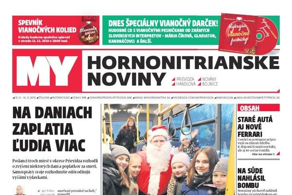 Nové číslo MY Hornonitrianskych novín je už v predaji.