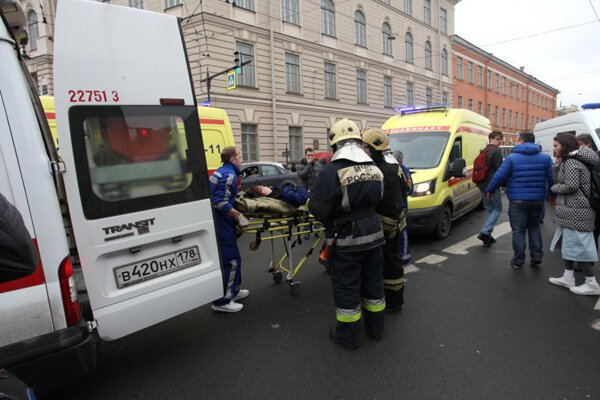 K výbuchu nálože nastraženej vo vagóne súpravy metra došlo 3. apríla 2017.
