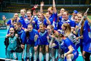 Slovenské florbalistky po postupe do štvrťfinále MS.