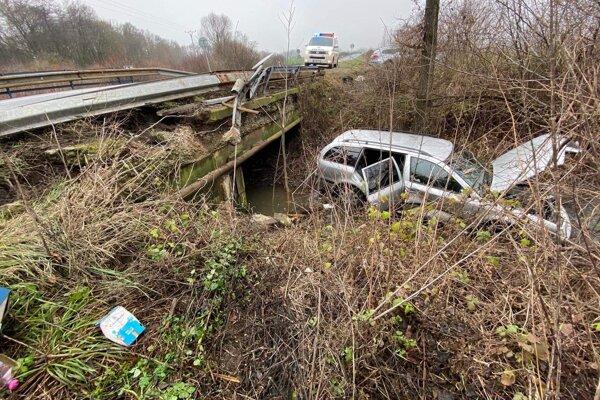 Nehoda pri Slanci.
