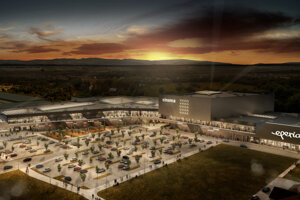 Vizualizácia nákupného centra Eperia.