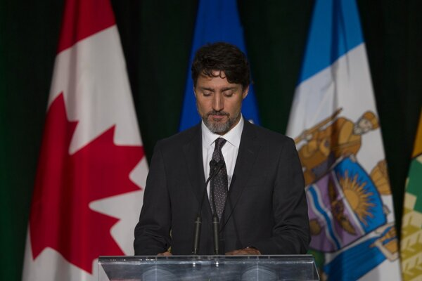 Premiér Justin Trudeau na podujatí v Edmontone.