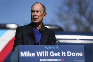 Uchádzač o nomináciu Demokratickej strany pred americkými prezidentskými voľbami v roku 2020 Michael Bloomberg.