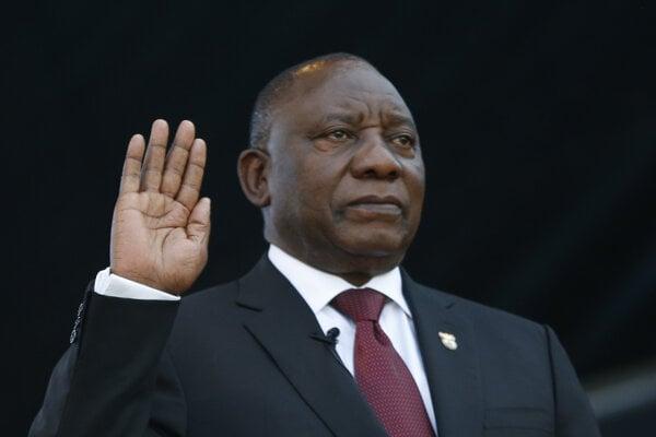 Úradujúci prezident Juhoafrickej republiky Cyril Ramaphosa.