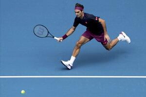 Roger Federer počas prvého kola Australian Open 2020.