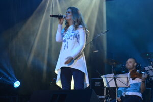 Veronika Rabada, jedna zo speváčok megakoncertu.