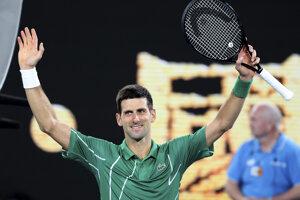 Novak Djokovič v 1. kole Australian Open 2020.