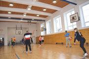 Vynovená telocvičňa levického gymnázia.
