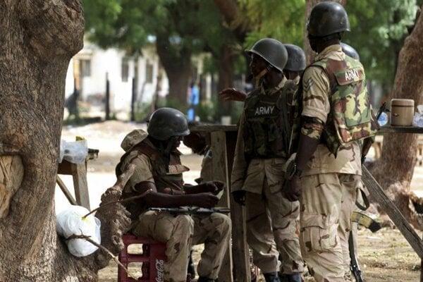 Členovia nigérijských vládnych síl. Ilustračné foto.