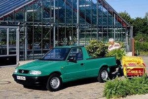 Volkswagen Caddy druhej generácie vychádzal v otvorenej verzii zo Škody Felicia.