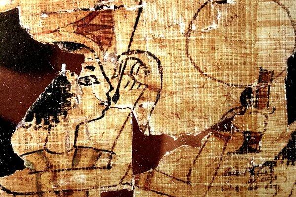 Vyobrazenie na papyruse z egyptského múzea v Turíne.