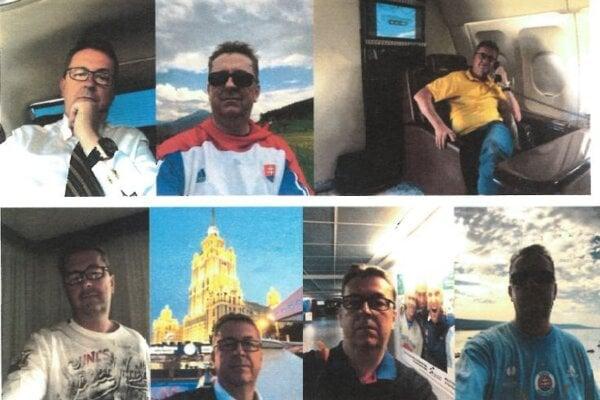 Fotografie, ktoré Martin Glváč posielal Alene Zsuzsovej a zaistila ich polícia v jej mobile.