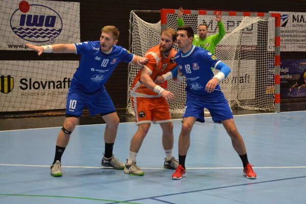 Považskobystričan Ivanytsia (vľavo v modrom) dal v Modre deväť gólov.