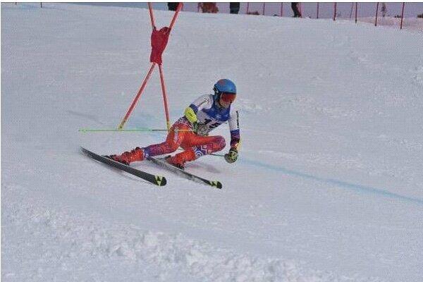 Víťaz obrovského slalomu Filip Botka.