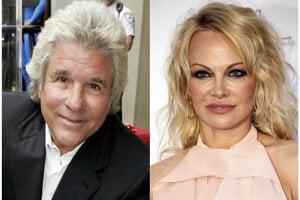 Bývalá hviezda amerického televízneho seriálu Pobrežná hliadka (Baywatch) Pamela Andersonová (52) a filmový producent Jon Peters (vpravo).