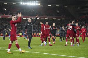 Futbalisti Liverpool FC.