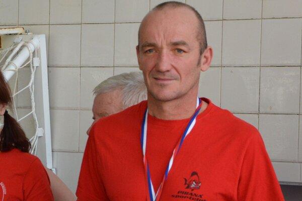 Róbert Šupa počas 48-hodinovky v Topoľčanoch.