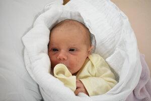 Amelia Jordánová (3400 g, 51 cm) sa narodila 27. januára Andrei a Ľubošovi z Novej Dubnice.