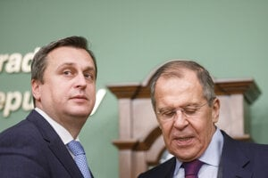 Andrej Danko a ruský minister zahraničných vecí Sergej Lavrov.