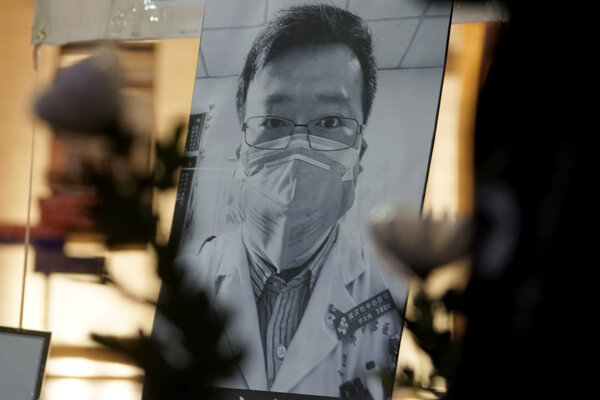 Fotografia  Li Wen-lianga počas vigílie  v Hongkongu.