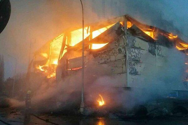 Požiar v Dunajskej Strede.