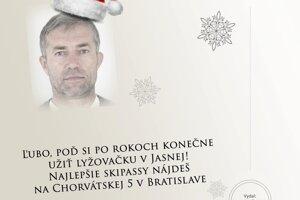 Vianočný pozdrav polície hľadanému Ľubošovi Kosíkovi.