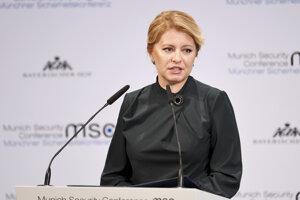 Prezidentka Zuzana Čaputová na konferencii v Mníchove.