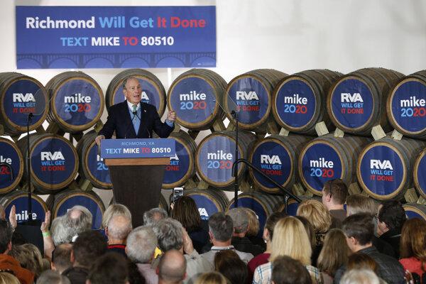 Bloomberg kampaň priviezol aj do pivovaru v Richmonde v štáte Virgínia.