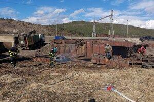 Odpratávanie poškodených vagónov trvalo týždeň.