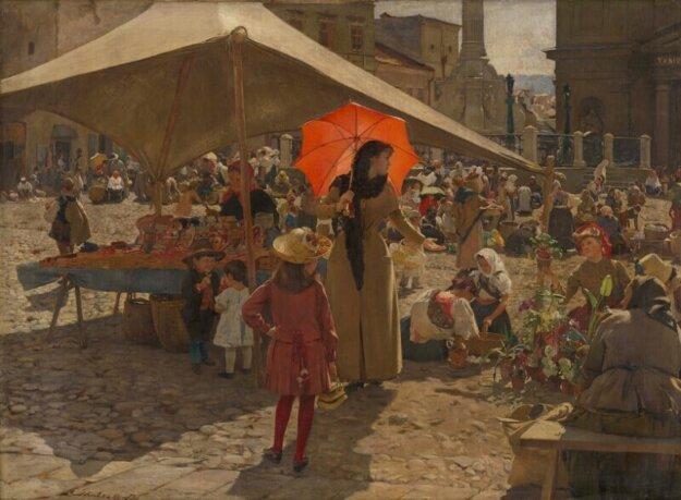 Dominik Skutecký, Trh v Banskej Bystrici.