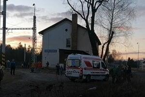 Nehoda sa stala v blízkosti železničnej stanice v Markušovciach.
