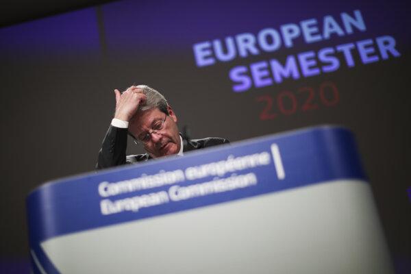 Eurokomisár pre ekonomické záležitosti Paolo Gentiloni.