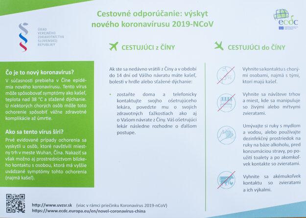Cestovné odporúčanie v príprade výskytu nového koronavírusu.