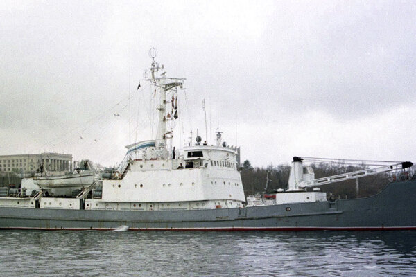Ruská prieskumná fregata Liman.