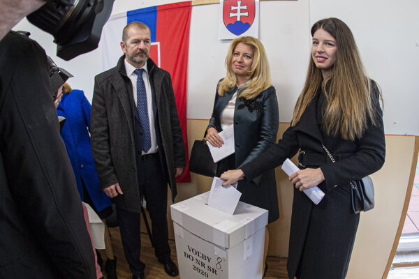 Čaputová volila v Pezinku.