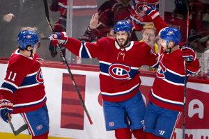 Tomáš Tatar (celkom vpravo) v drese Montreal Canadiens.