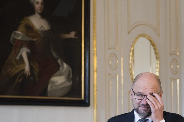 Voľby 2020: Richard Sulík v prezidentskom paláci.