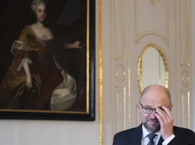 Voľby 2020: Richard Sulík počas prijatia u prezidentky Zuzany Čaputovej.