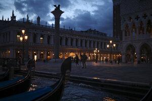 Námestie svätého Marka v Benátkach.