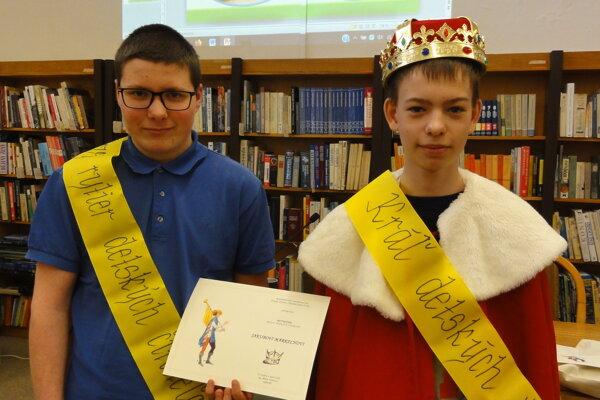Čerstvý kráľ Adam Vaňko a rytier Jakub Markech.