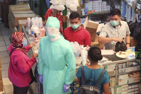 Zdravotnícke zariadenie v Jakarte.