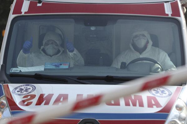 Záchranná služba vo Varšave.