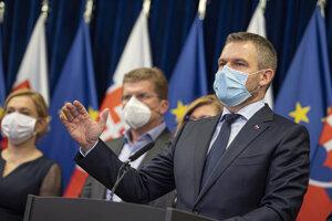 Premiér Peter Pellegrini hovorí o nových prípadoch koronavírusu.
