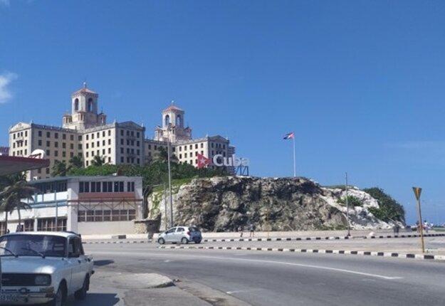 Vo Vedade nájdeme najhonosnejší hotel v Havane - Hotel Nacional.
