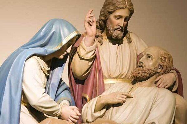 Umieranie Jozefa v Kostole Sv. Jozefa v St. Louis.