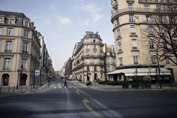 Prázdne ulice Paríža.