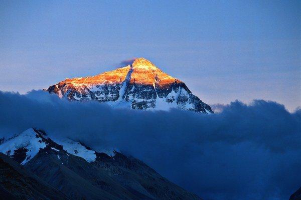 Mount Everest, najvyšší vrch sveta.