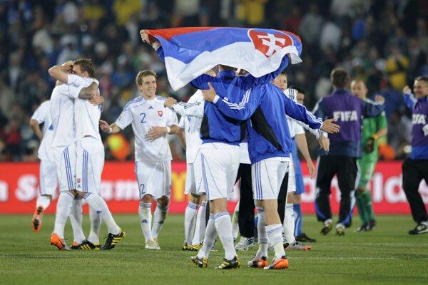 Momentka zo zápasu Slovensko - Taliansko na MS vo futbale 2010.