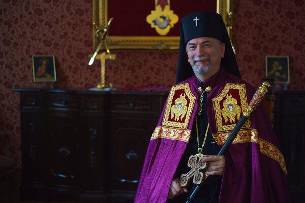 Arcibiskup Cyril Vasiľ, apoštolský administrátor sede plena Gréckokatolíckej eparchie v Košiciach.